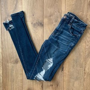 American Eagle Ripped High Rise XLong Jeggings